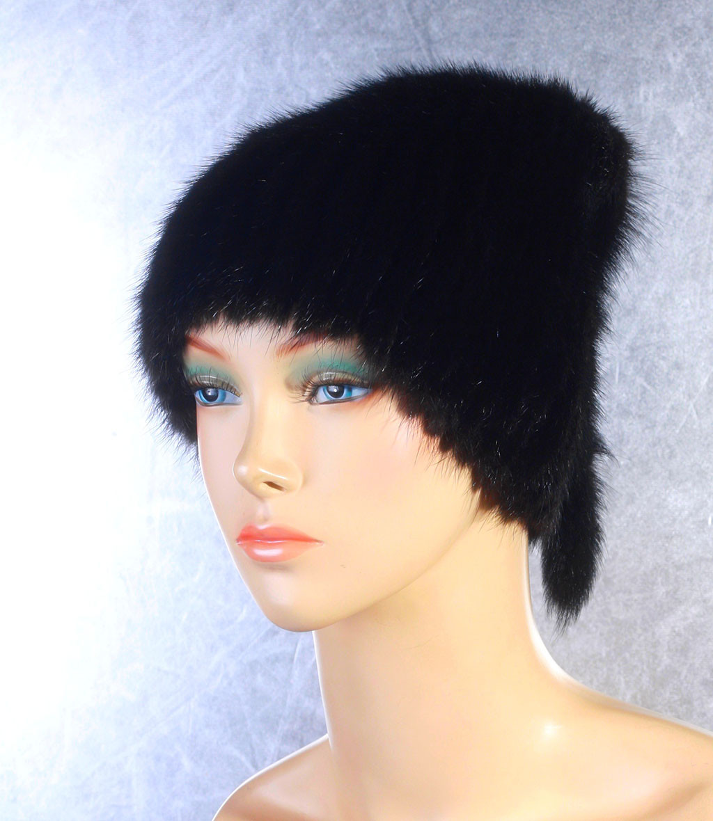 Женская меховая шапка Донышко из норки