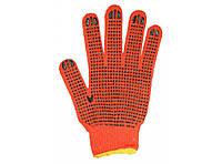 Перчатки рабочие оранжевые с точкой
