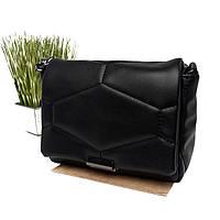 Маленькая женская сумка искусственная кожа черный Арт.90504 WeLassie (Україна), фото 1