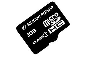 Карта памяти Silicon Power 8Gb microSDHC class 4 (SP008GBSTH004V10)