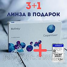 Акція 3+1 Biofinity Контактні лінзи