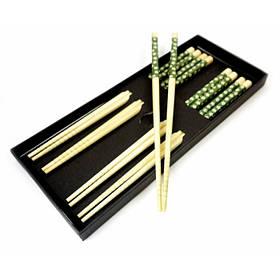 Палочки для еды бамбук с рисунком набор 5 пар №1 ОРИГИНАЛ ॐ