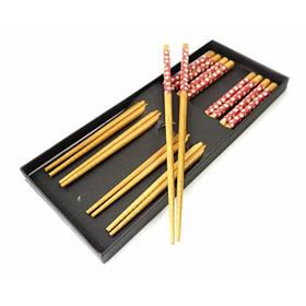 Палочки для еды бамбук с рисунком набор 5 пар №2 ОРИГИНАЛ ॐ