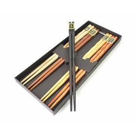 Палочки для еды деревянные ассорти 5 видов набор 5 пар ОРИГИНАЛ ॐ