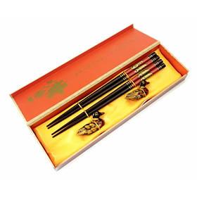 Палочки для еды 2 пары + 2 подставки в подарочной коробке №1 ОРИГИНАЛ ॐ