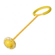 Нейроскакалка з колесом на одну ногу SR19001 62 см світиться (Жовтий)