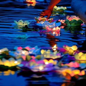 """Плавающий фонарик """"Лилия"""", 1 лот = 10 шт, фото 2"""