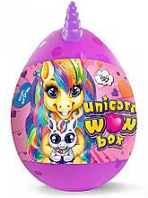 """Набір для творчості в яйці """"Unicorn WOW Box"""" UWB-01-01U для дівчаток (Фіолетовий)"""