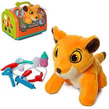 М'яка іграшка Лев T803-5 з набором ветеринара