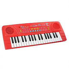 Дитячий синтезатор BX-1605BC 37 клавіш (Червоний)