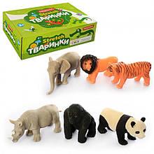 Фигурки диких животных A159-PDQ, 6 видов