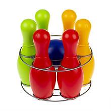 """Игровой набор для боулинга """"Радуга 6"""" 0725, кегли - 6 шт, шар"""