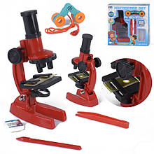 Микроскоп игрушечный 3103 А с аксессуарами (Красный)