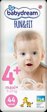 Подгузники Babydream Fun&Fit размер 4+ Maxi+ (9-20 кг) 44шт.
