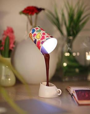 """Енергозберігаюча лампа настільна """"Налий кави"""", фото 2"""