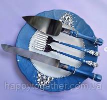 Набір для весільного торта синій