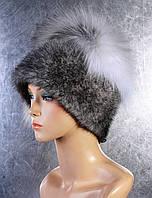 Женская меховая шапка Веер из норки и чернобурки