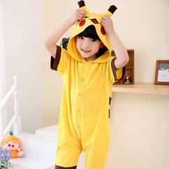 Кигуруми детская BearWear Пикачу летняя L - рост 121-130 см Желтый ZZ, КОД: 1916992
