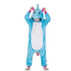 Пижама детская Kigurumba Единорог New XL - рост 135 - 145 см Голубой с белым K0W1-0056-XL ZZ, КОД: 1775342