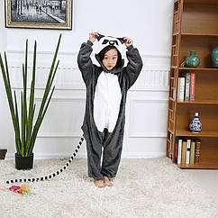 Пижама детская Kigurumba Лемур L - рост 125 - 135 см Серо-белый K0W1-0080-L ZZ, КОД: 1775885
