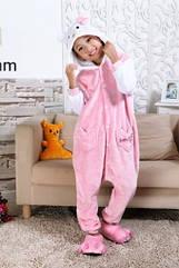 Кигуруми детская Kigurumba Хелло Китти S - рост 105 - 115 см Розовый с белым K0W1-0002-S ZZ, КОД: 1776650