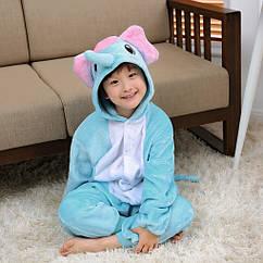 Пижама детская Kigurumba Слон L - рост 125 - 135 см Голубой с белым K0W1-0053-L ZZ, КОД: 1776767