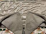Дитячий велюровий плед на овчині двосторонній теплий 110*140 см на вішалці Блакитного кольору для хлопчика, фото 9