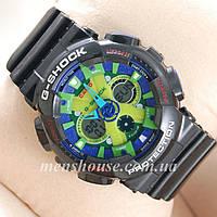 Бюджетные часы Casio GA-120 Black/Blue/Light green