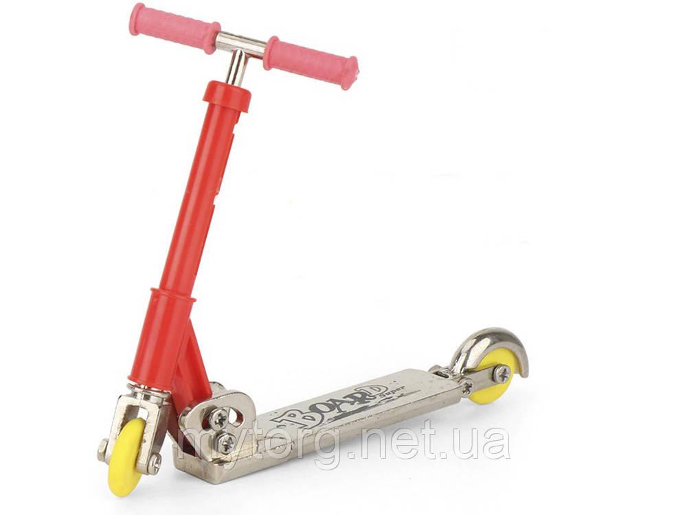 Фінгер самокат складаний з запасними колесами та інструментами Рожевий