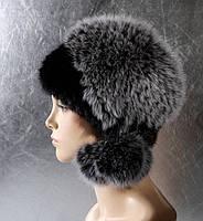 Женская меховая шапка Чубчик из норки и песца