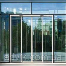 Телескопические автоматические раздвижные двери Geze Slimdrive SLT (Германия)