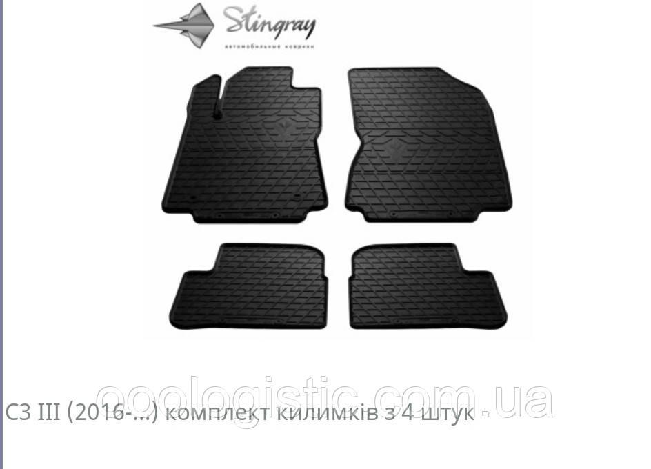 Автомобильные коврики Stingray CITROEN C3 (3) 2016-...4шт