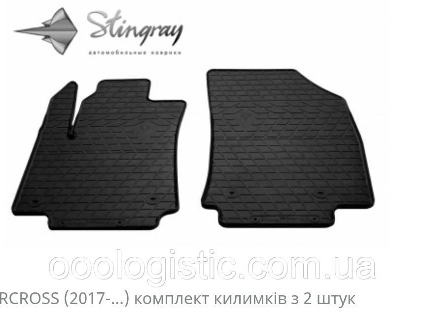 Автомобільні килимки Stingray CITROEN C3 Aircross 2017-2шт...