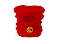 Горловик Manchester United red, флисовый горловик для футбола