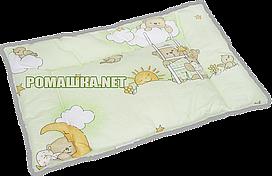 """Подушка """"нулевка"""" для новорожденного ЛЕСТНИЦА в кроватку, силикон, гипоаллергенная, верх 100% хлопок, 58х38 см"""