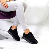 Стильные легкие черные замшевые женские кроссовки доступная цена, фото 6