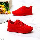 Стильні легкі яскраві червоні замшеві жіночі кросівки доступна ціна, фото 2