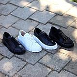 Миксовые черные кожаные замшевые женские кеды криперы натуральная кожа / замша, фото 7