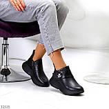 Модные кожаные черные женские полу спортивные женские ботинки натуральная кожа 38-25см, фото 2
