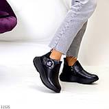 Модные кожаные черные женские полу спортивные женские ботинки натуральная кожа 38-25см, фото 4