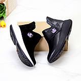 Модные кожаные черные женские полу спортивные женские ботинки натуральная кожа 38-25см, фото 5