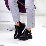 Модные кожаные черные женские полу спортивные женские ботинки натуральная кожа 38-25см, фото 6