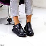 Модные кожаные черные женские полу спортивные женские ботинки натуральная кожа 38-25см, фото 7