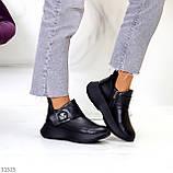Модные кожаные черные женские полу спортивные женские ботинки натуральная кожа 38-25см, фото 8