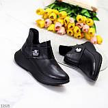 Модные кожаные черные женские полу спортивные женские ботинки натуральная кожа 38-25см, фото 9