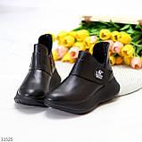 Модные кожаные черные женские полу спортивные женские ботинки натуральная кожа 38-25см, фото 10