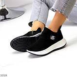 Замшевые черные женские полу спортивные женские ботинки замша на белой подошве 38-25см, фото 5