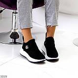 Замшевые черные женские полу спортивные женские ботинки замша на белой подошве 38-25см, фото 8
