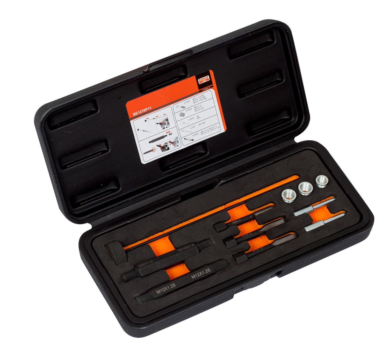 Оборудование для работы с двигателем,Glow plug thread repairing set, Bahco,BE1210P11