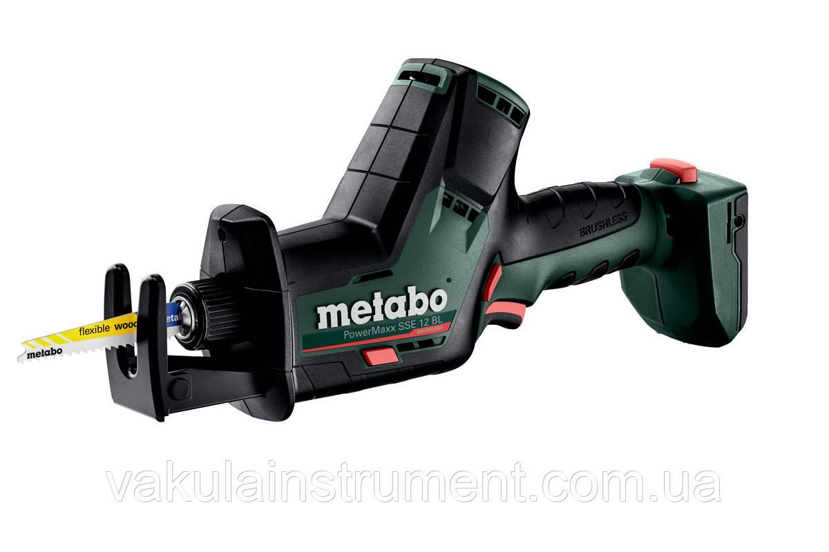 Акумуляторна шабельна пила Metabo POWERMAXX SSE 12 BL (каркас) (602322840)